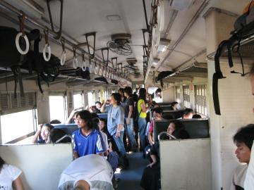 Atmosfera na daljinu Vlak u Tajlandu