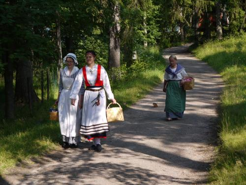 Costumed women on Seurasaari island, Helsinki