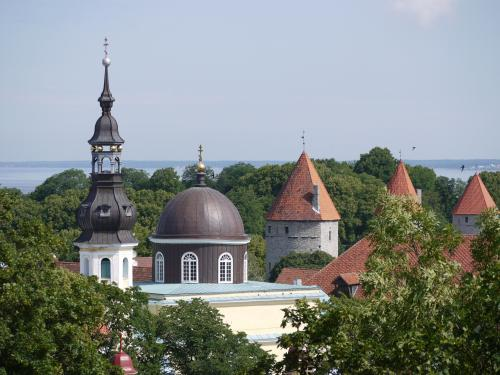 Bastion towers seen from the palace hill in Tallinn