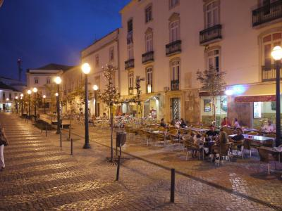 Main square of the old town of Tavira